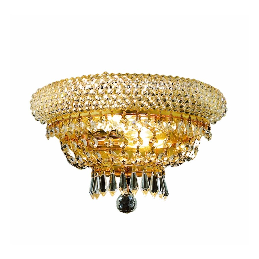 Luminous Lighting 12-in W 1-Light Yellow/Gold Pocket Wall Sconce