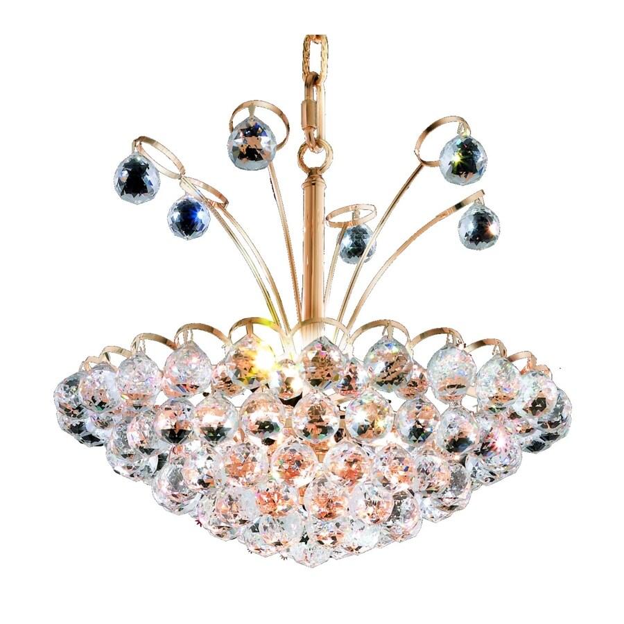 Luminous Lighting Godiva 18-in 8-Light Gold Empire Chandelier