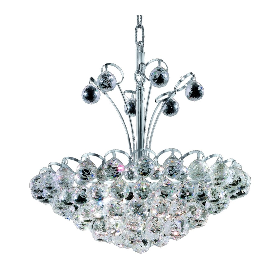 Luminous Lighting Godiva 18-in 8-Light Chrome Empire Chandelier