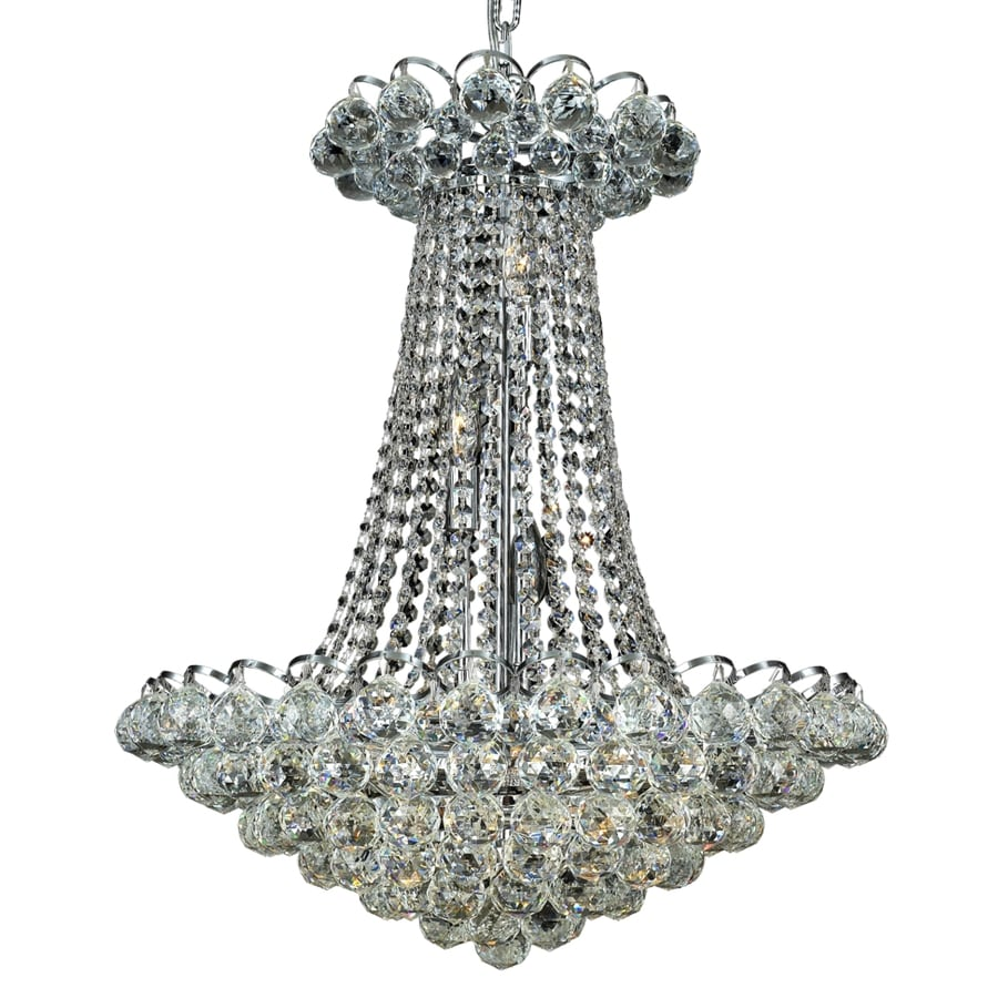 Luminous Lighting Godiva 21-in 13-Light Chrome Empire Chandelier