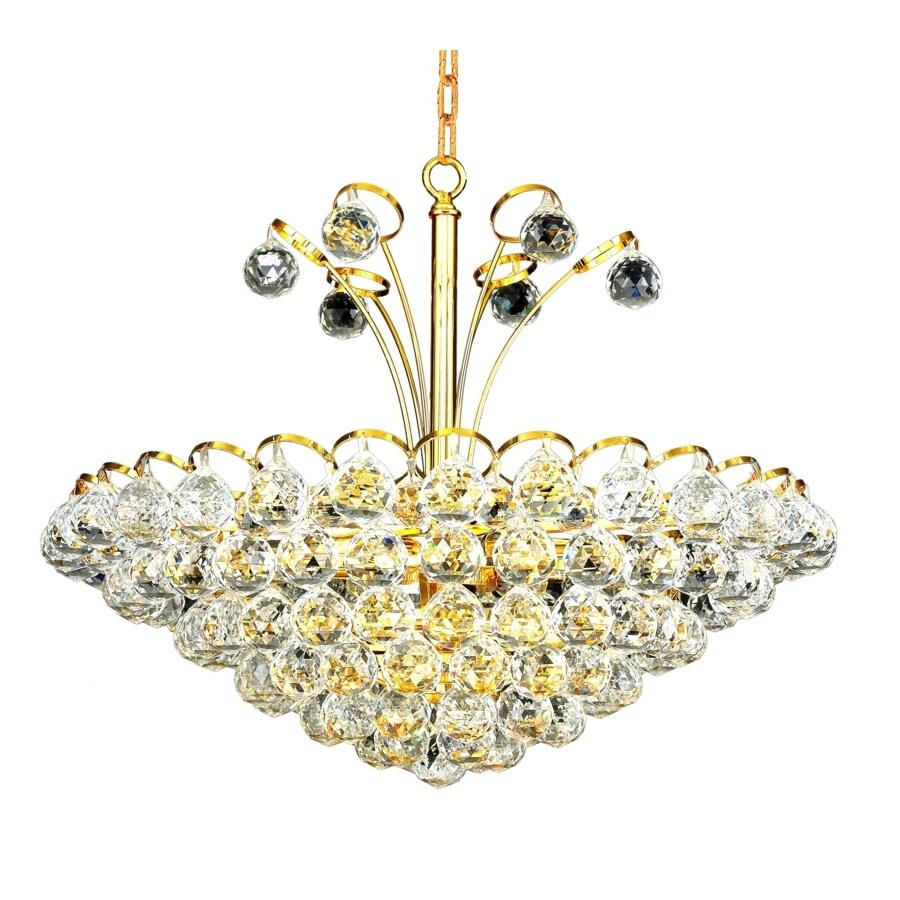 Luminous Lighting Godiva 22-in 8-Light Gold Empire Chandelier