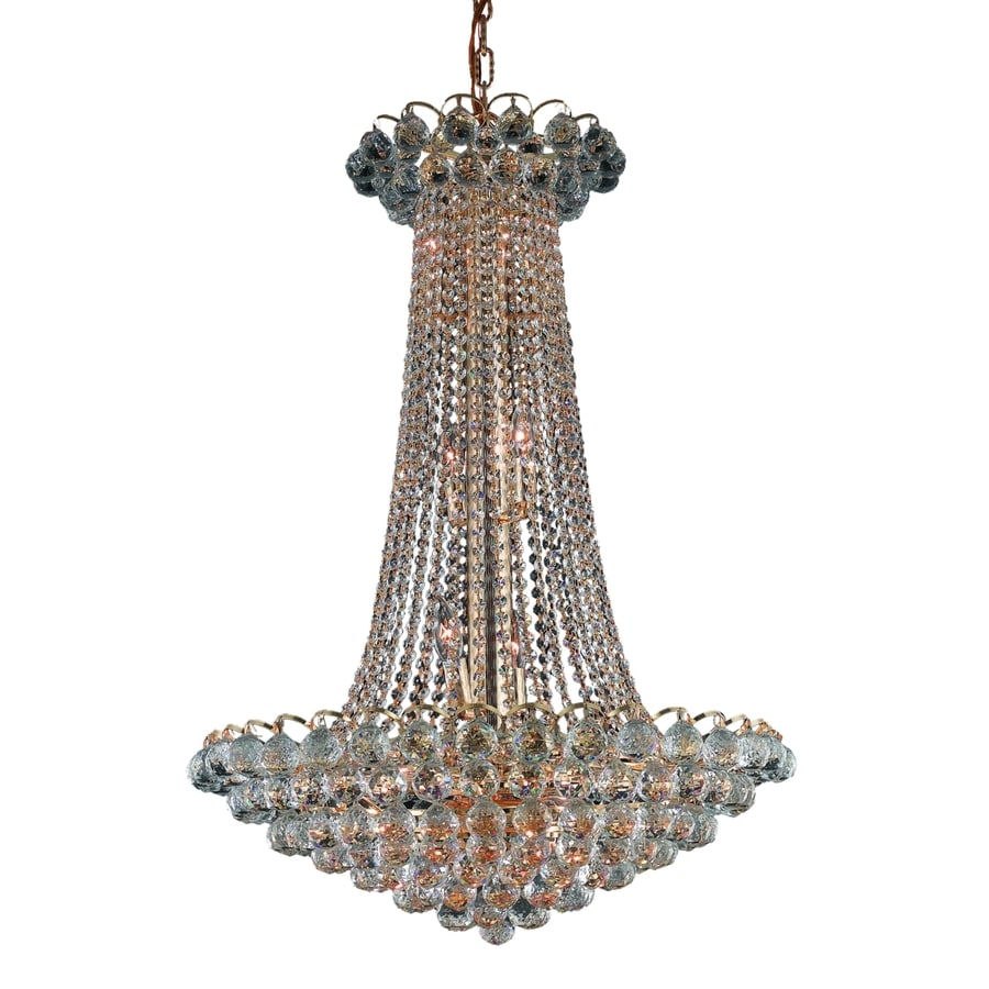 Luminous Lighting Godiva 27-in 15-Light Gold Empire Chandelier