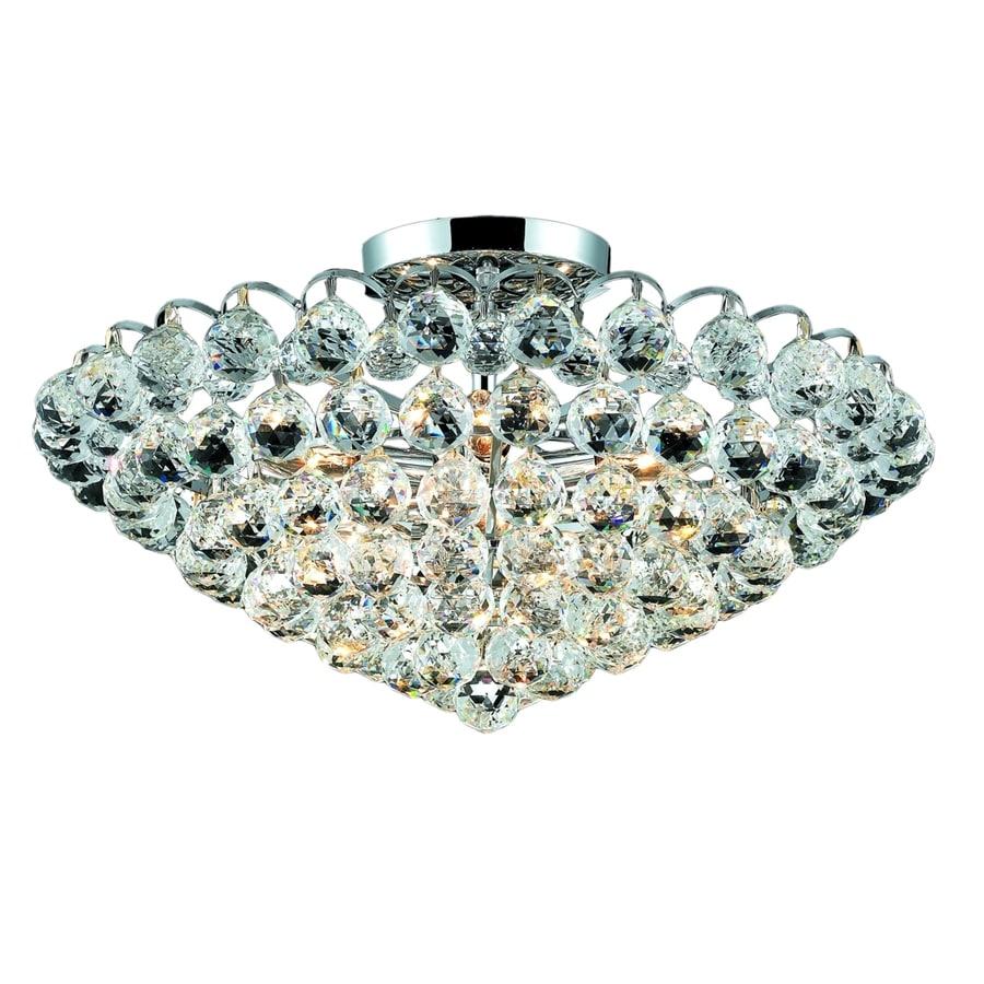 Luminous Lighting Godiva 11-in W Chrome Flush Mount Light