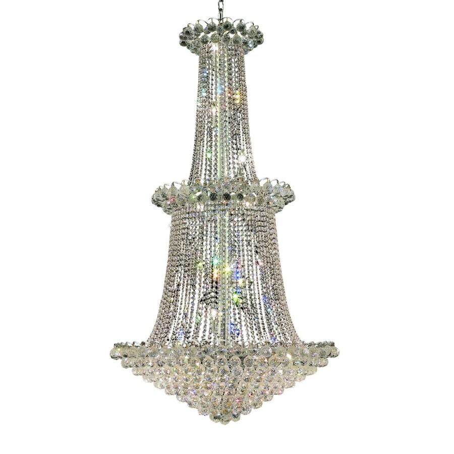 Luminous Lighting Godiva 36-in 22-Light Chrome Empire Chandelier