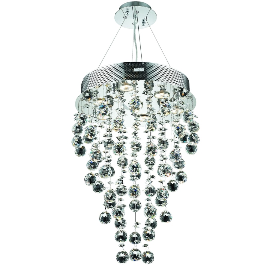 Luminous Lighting Galaxy 16-in 7-Light Chrome Waterfall LED Chandelier
