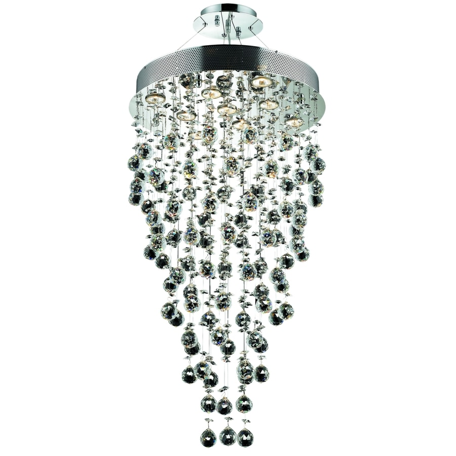 Luminous Lighting Galaxy 20-in 9-Light Chrome Waterfall LED Chandelier
