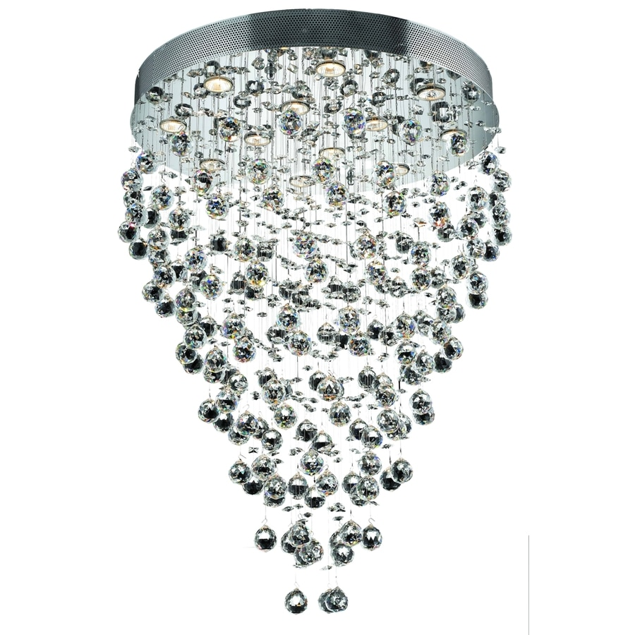 Luminous Lighting Galaxy 28-in 12-Light Chrome Waterfall LED Chandelier