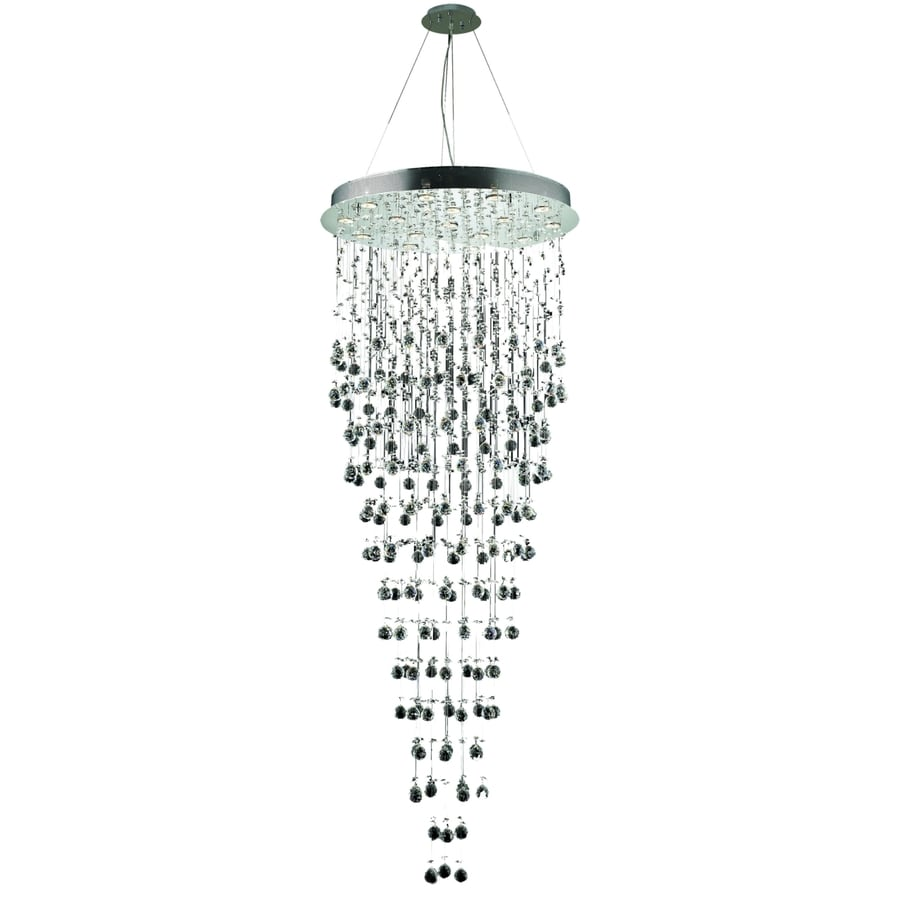 Luminous Lighting Galaxy 30-in 16-Light Chrome Waterfall LED Chandelier