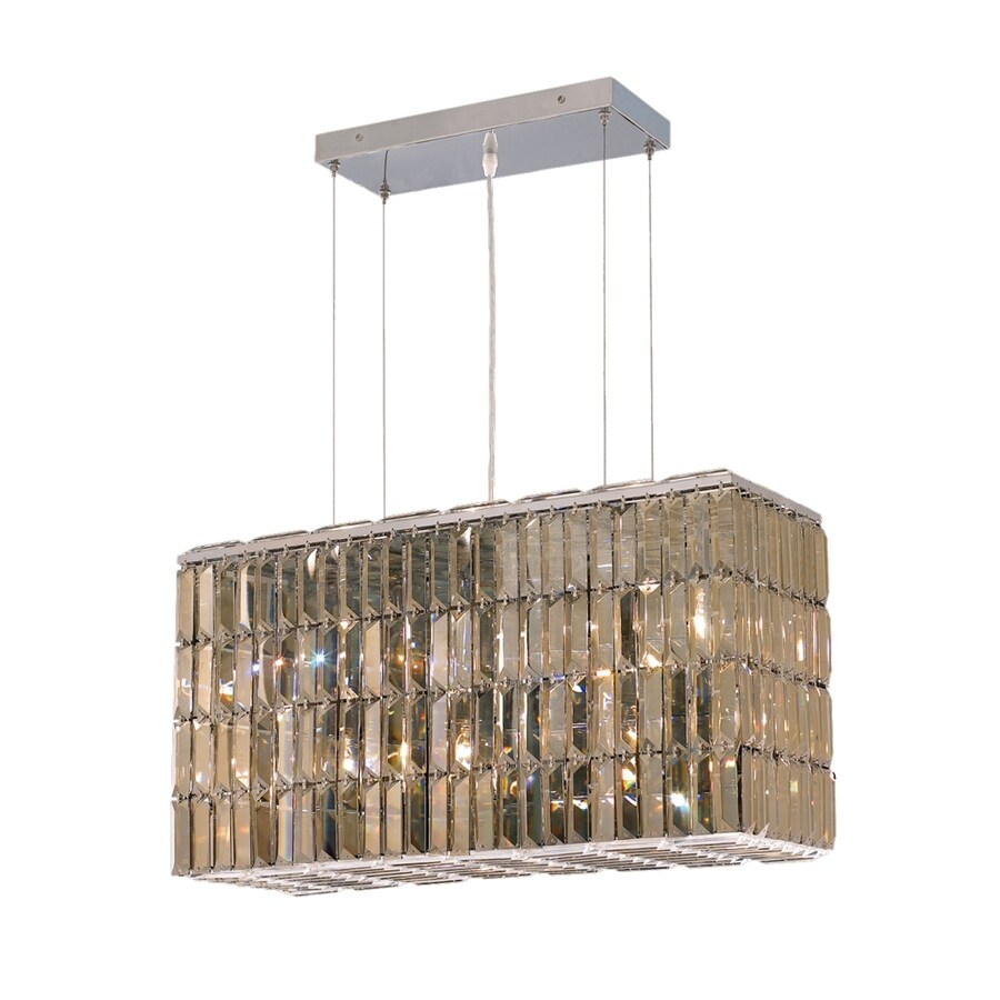 Luminous Lighting Maxime 9-in 8-Light Chrome Linear Chandelier