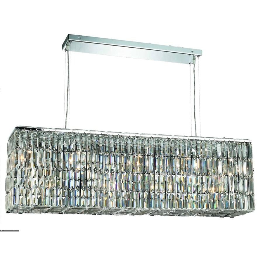 Luminous Lighting Maxime 9-in 8-Light Chrome Linear Chandelier