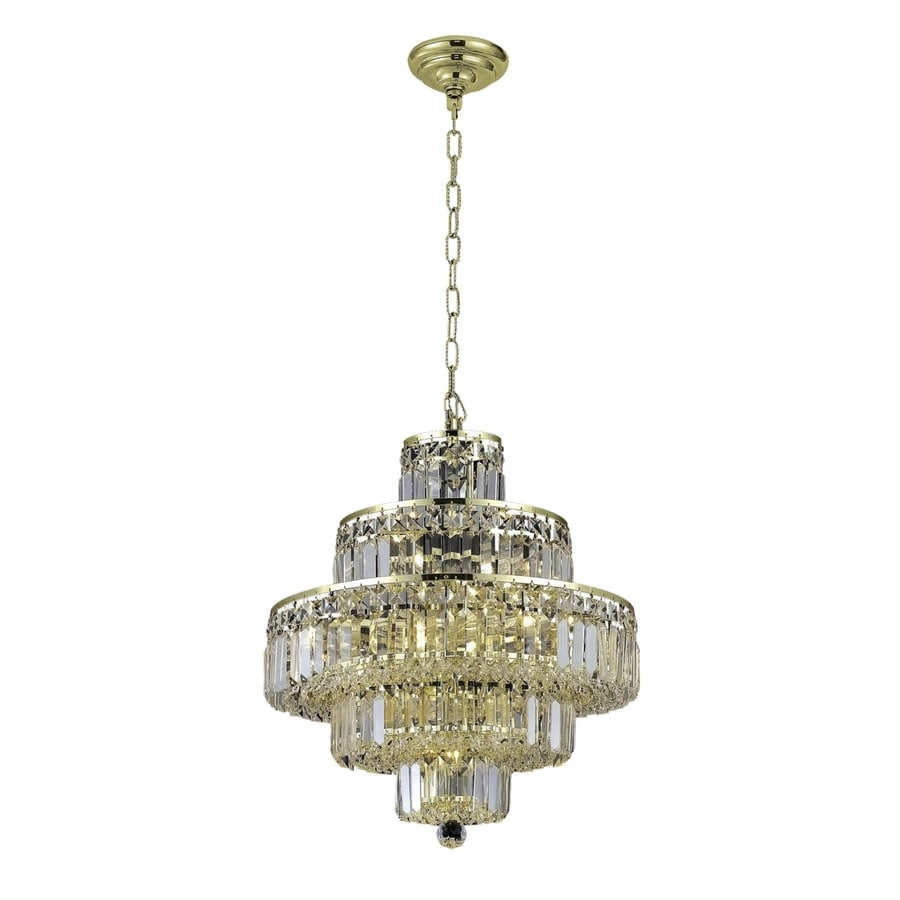 Luminous Lighting Maxime 20-in 13-Light Gold Linear Chandelier