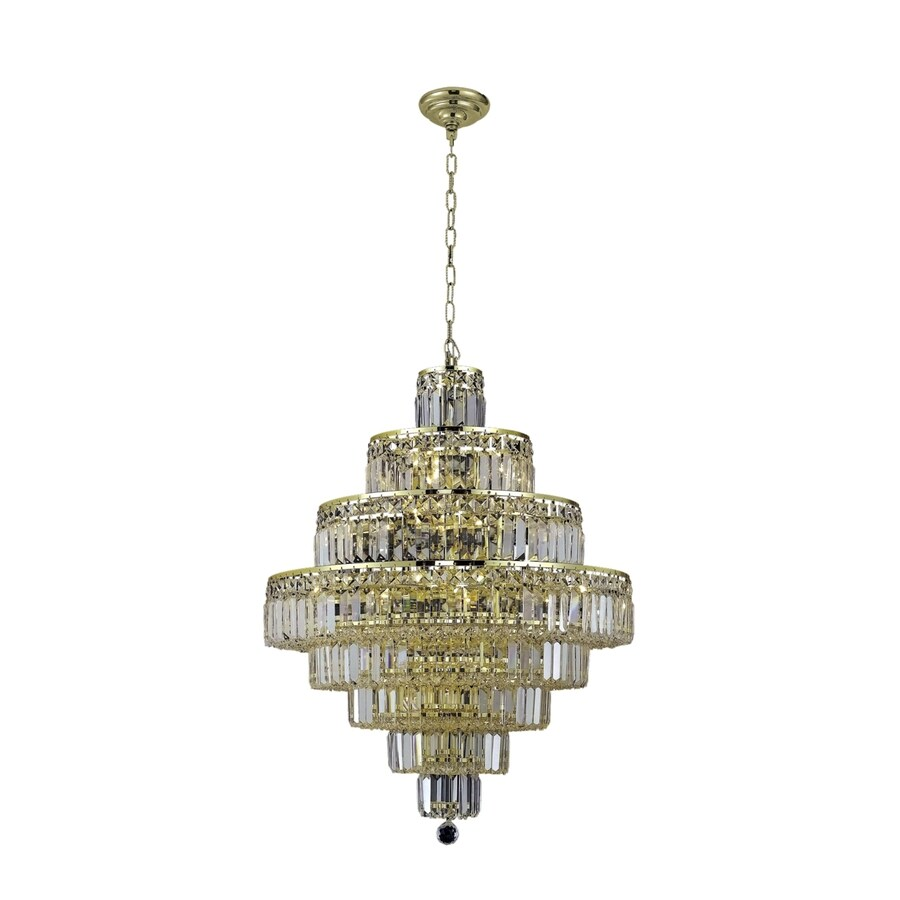 Luminous Lighting Maxime 26-in 18-Light Gold Linear Chandelier