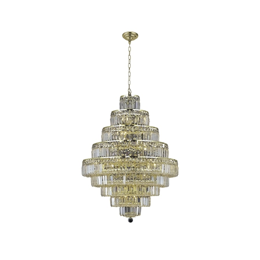 Luminous Lighting Maxime 30-in 20-Light Gold Linear Chandelier