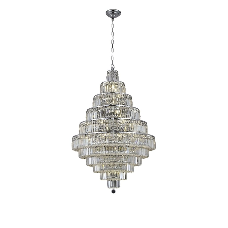 Luminous Lighting Maxime 32-in 30-Light Chrome Linear Chandelier