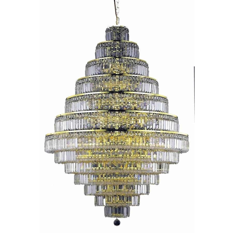 Luminous Lighting Maxime 42-in 38-Light Gold Linear Chandelier