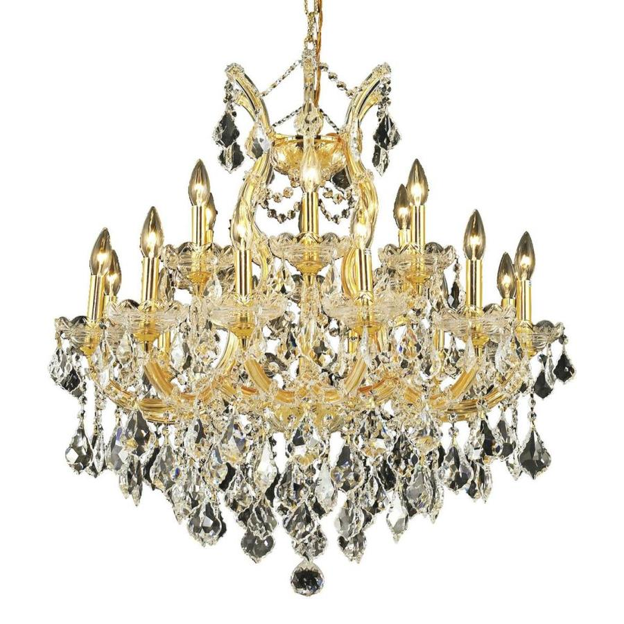 Luminous Lighting Maria Theresa 30-in 19-Light Gold Candle Chandelier