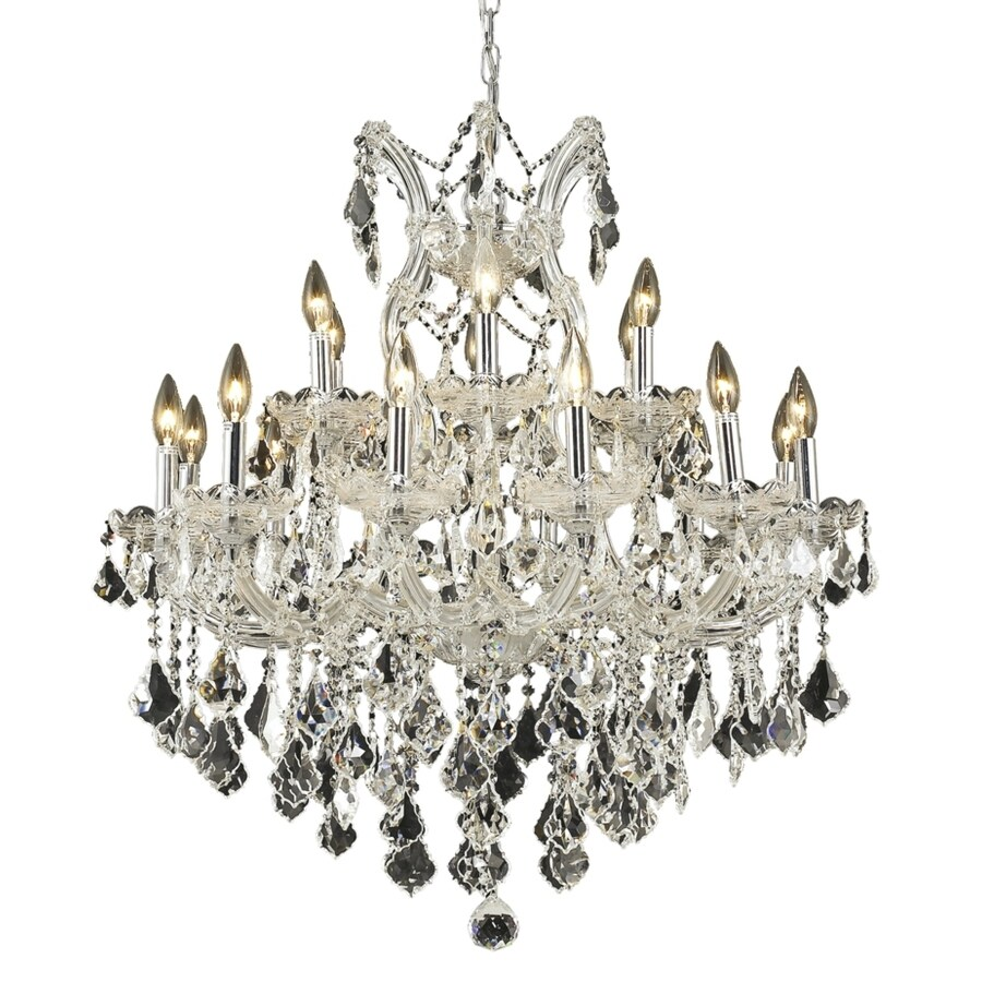 Luminous Lighting Maria Theresa 30-in 19-Light Chrome Candle Chandelier