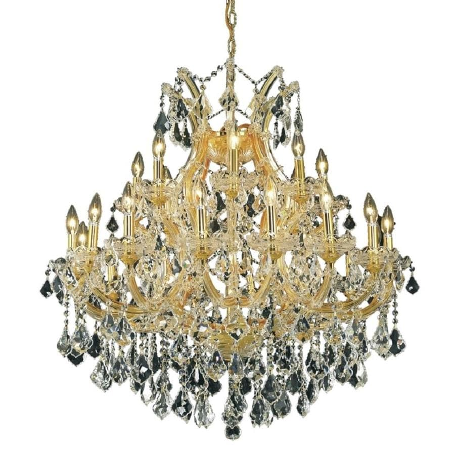 Luminous Lighting Maria Theresa 36-in 24-Light Gold Candle Chandelier