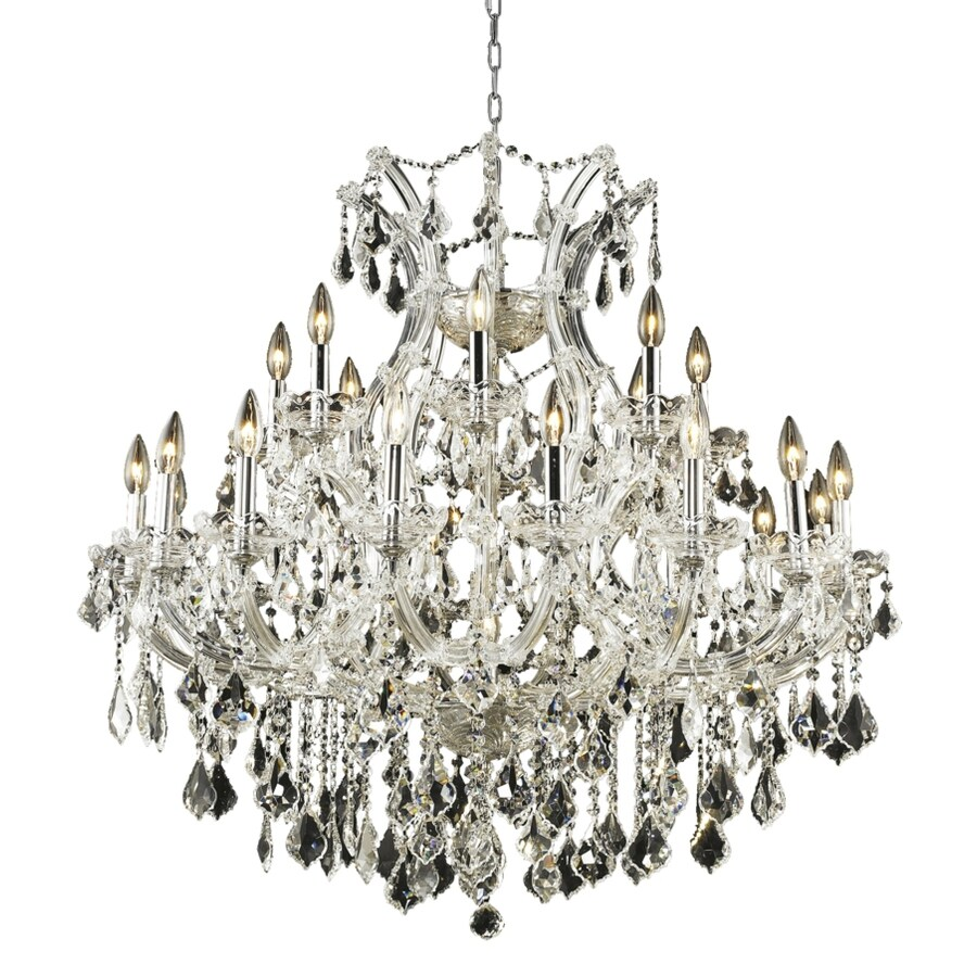 Luminous Lighting Maria Theresa 36-in 24-Light Chrome Candle Chandelier