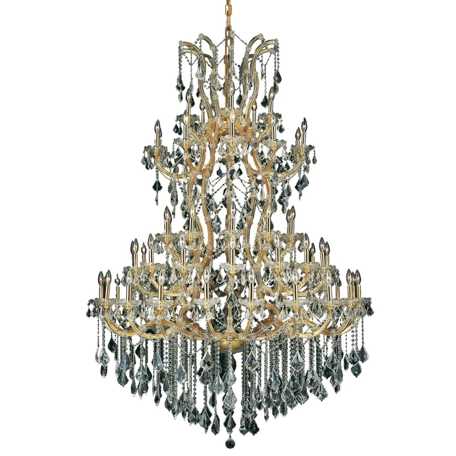 Luminous Lighting Maria Theresa 54-in 61-Light Gold Candle Chandelier