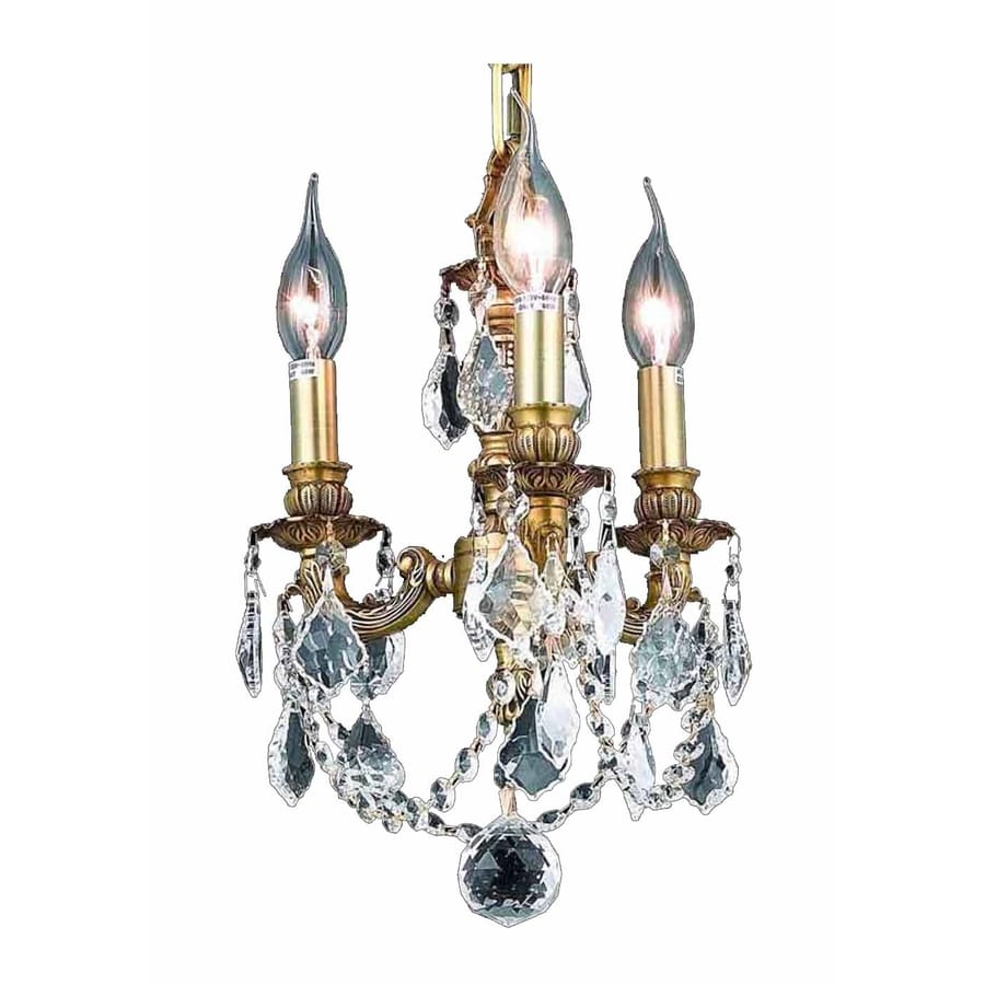 Luminous Lighting Lillie 10-in 3-Light French Gold Candle Mini Chandelier
