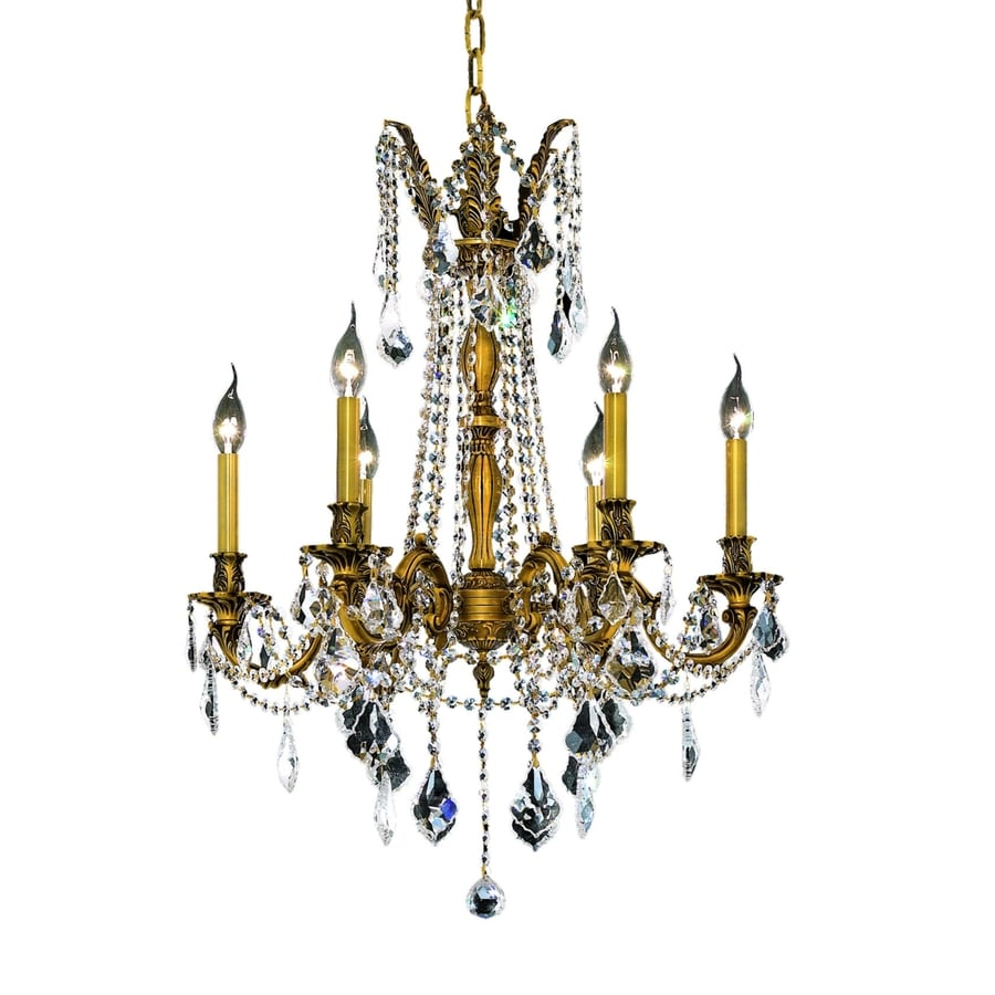 Luminous Lighting Rosalia 23-in 6-Light French gold Candle Chandelier