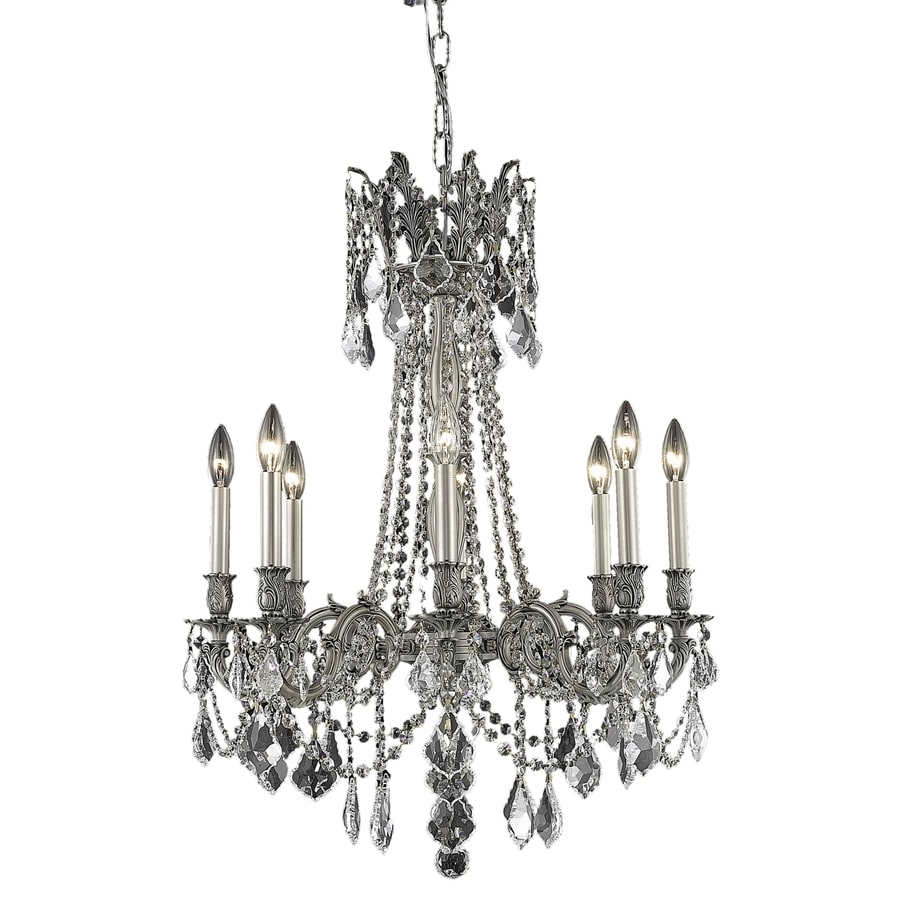 Luminous Lighting Rosalia 24-in 8-Light Pewter Candle Chandelier