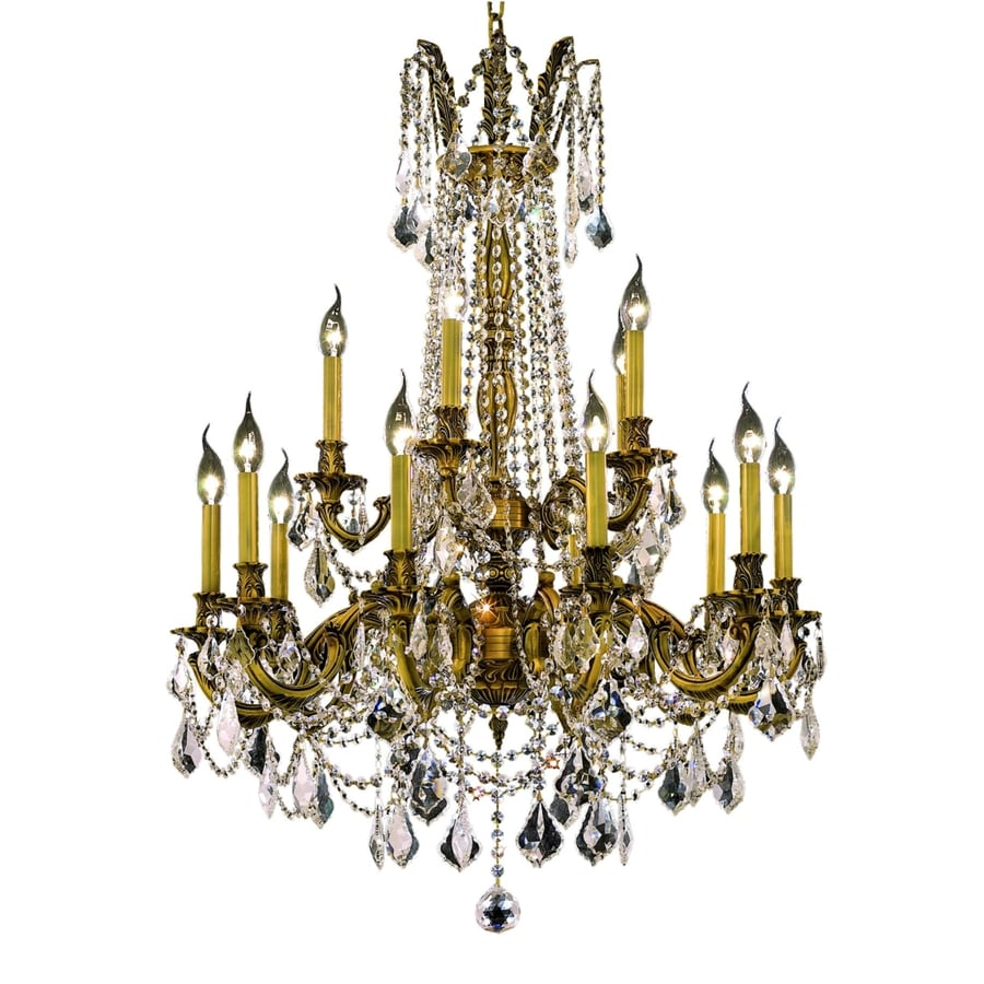 Luminous Lighting Rosalia 28-in 15-Light French Gold Candle Chandelier