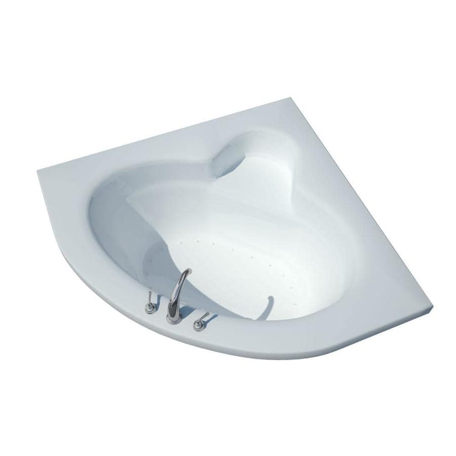 Endurance Eagle 60-in L x 60-in W x 23-in H White Acrylic Corner Drop-in Air Bath
