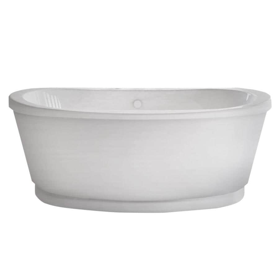 Endurance Endurance Acrylic Oval Freestanding Bathtub with Center Drain (Common: 36-in x 66-in; Actual: 21-in x 35.5-in x 65.5-in)