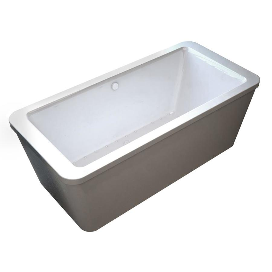 Endurance Endurance 66.75-in L x 32-in W x 24.5-in H White Acrylic Rectangular Freestanding Air Bath
