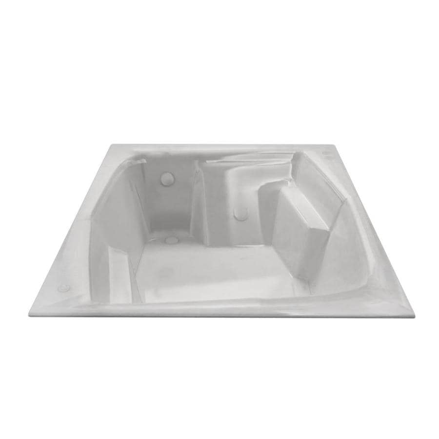 Endurance Egret Acrylic Rectangular Drop-in Bathtub with Reversible Drain (Common: 54-in x 72-in; Actual: 24.75-in x 53.75-in x 71.75-in)