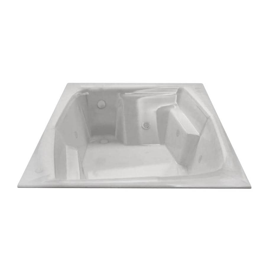 Endurance Egret 2-Person White Acrylic Rectangular Whirlpool Tub (Common: 72-in x 60-in; Actual: 24.75-in x 53.75-in x 71.75-in)