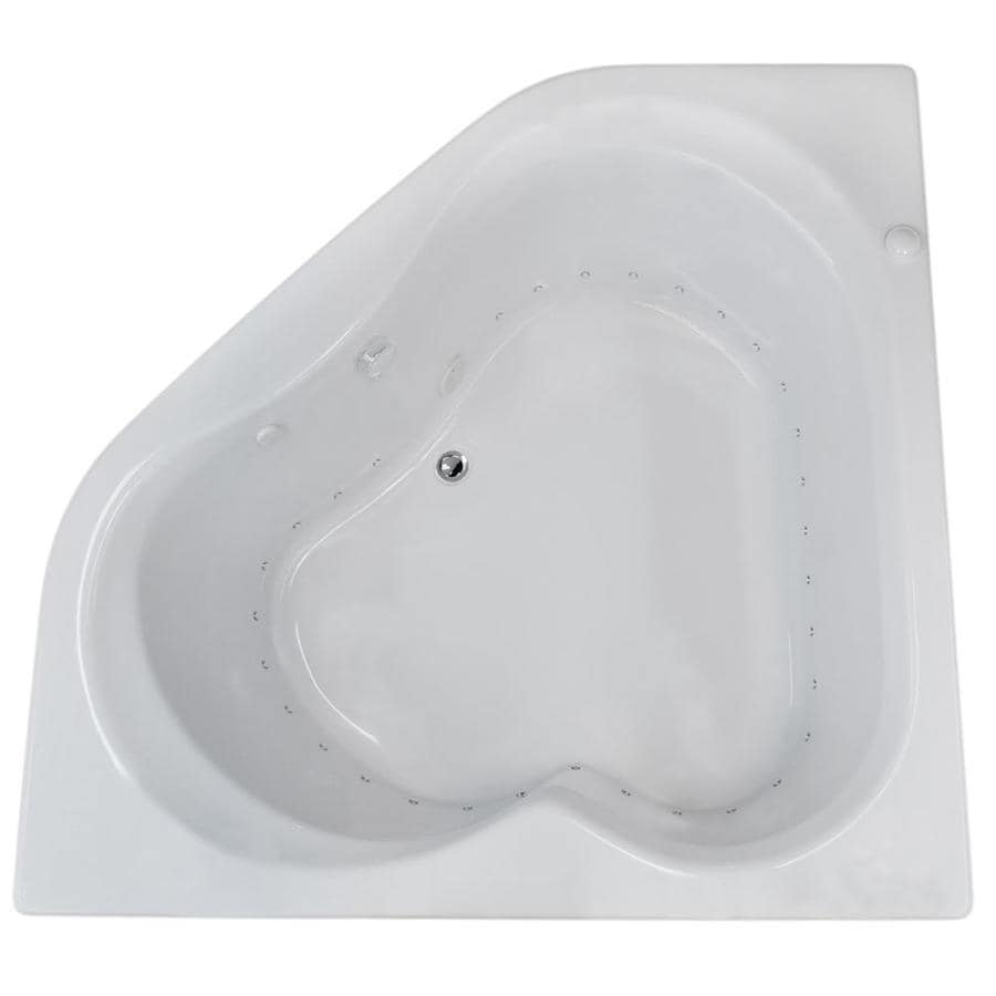 Endurance Dove 59.25-in White Acrylic Drop-In Air Bath with Center Drain