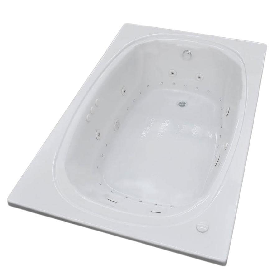 Endurance Budgie 77.9-in L x 47.5-in W x 24.75-in H 2-Person White Acrylic Oval In Rectangle Drop-in Whirlpool Tub and Air Bath