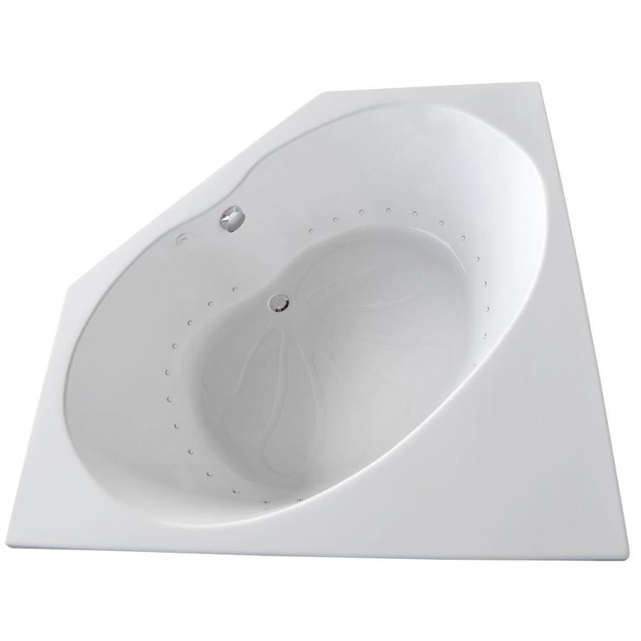 Endurance Swift 60-in White Acrylic Drop-In Air Bath with Center Drain