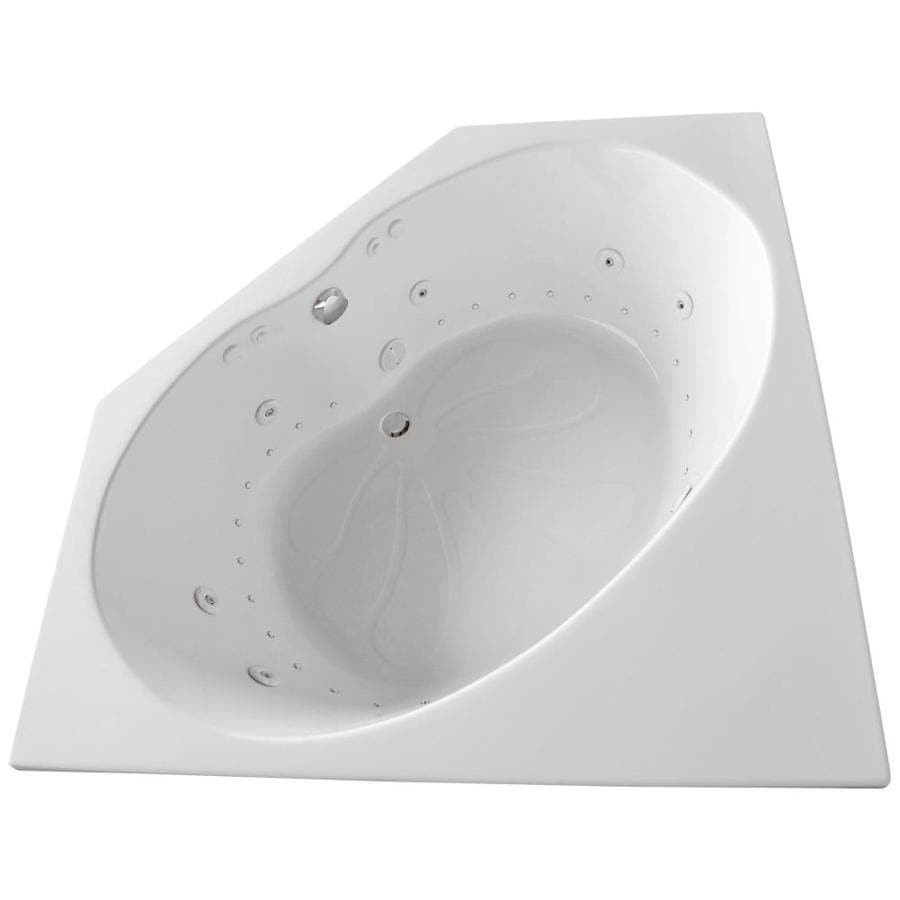 Endurance Swift 60-in White Acrylic Drop-In Whirlpool Tub And Air Bath with Center Drain