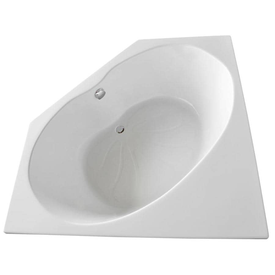Endurance Swift 60-in White Acrylic Drop-In Bathtub with Center Drain