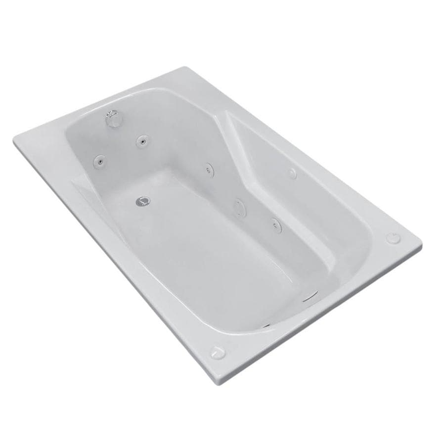Endurance Falcon White Acrylic Rectangular Whirlpool Tub (Common: 60-in x 32-in; Actual: 23-in x 31.75-in x 59-in)