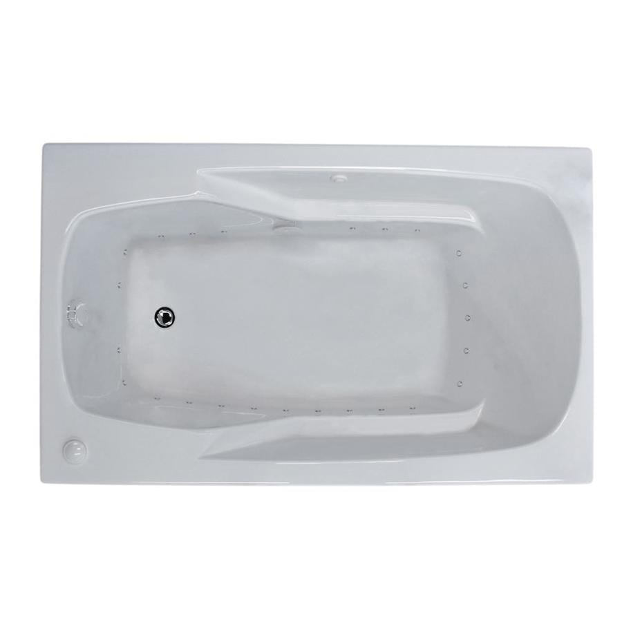 Endurance Falcon 35.2-in L x 71.25-in W x 23-in H White Acrylic Rectangular Drop-in Air Bath
