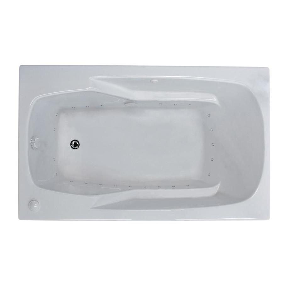 Endurance Falcon 41.4-in White Acrylic Drop-In Air Bath with Left-Hand Drain