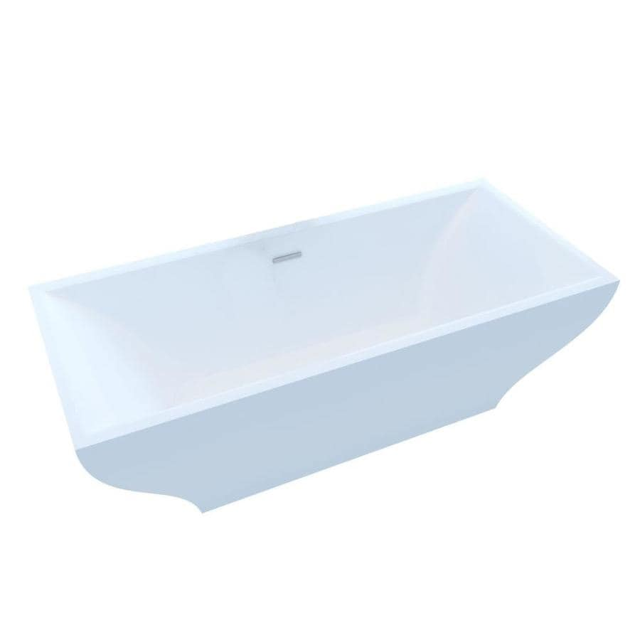 Endurance Endurance Acrylic Rectangular Freestanding Bathtub with Center Drain (Common: 32-in x 71-in; Actual: 22.75-in x 31.6-in x 70.4-in)