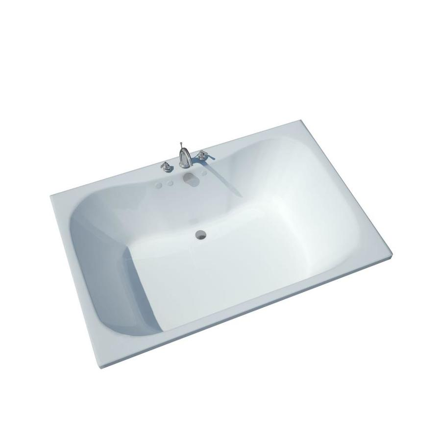 Endurance Harrier Acrylic Hourglass In Rectangle Drop-in Bathtub with Center Drain (Common: 40-in x 60-in; Actual: 23-in x 40-in x 60-in)