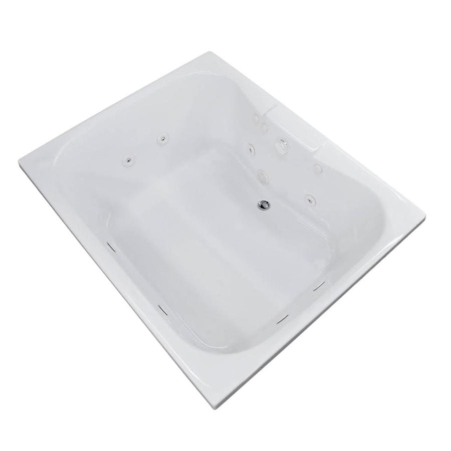 Endurance Harrier White Acrylic Hourglass In Rectangle Whirlpool Tub (Common: 60-in x 42-in; Actual: 23-in x 40.5-in x 58-in)