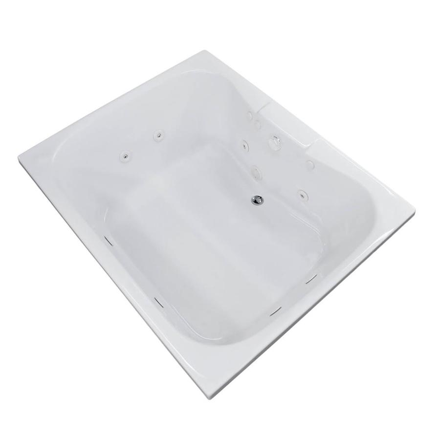 Endurance Harrier 2-Person White Acrylic Hourglass In Rectangle Whirlpool Tub (Common: 60-in x 42-in; Actual: 23-in x 47.25-in x 59-in)