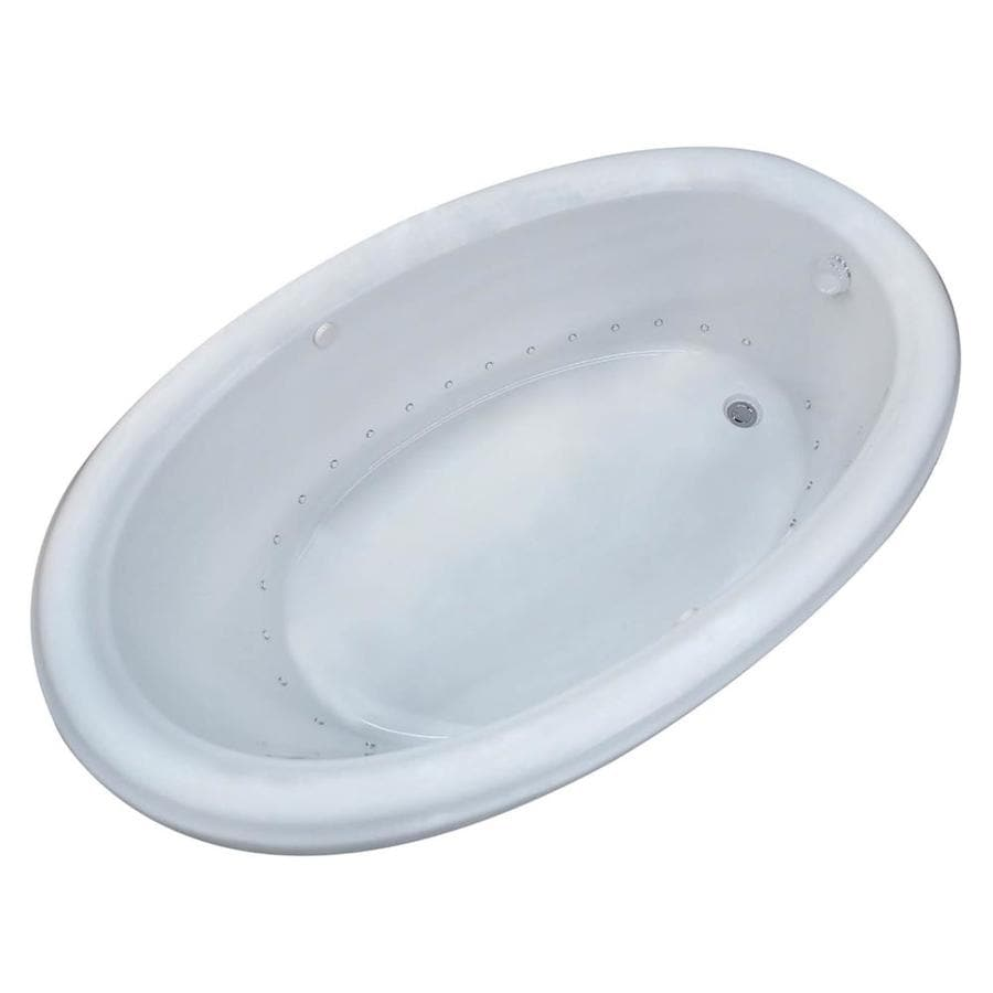Shop Endurance Hazel 60-in White with Left-Hand Drain Bathtub with ...