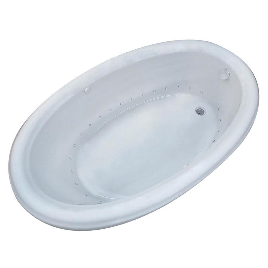 Endurance Hazel 60-in L x 36-in W x 23-in H White Acrylic Oval Drop-in Air Bath