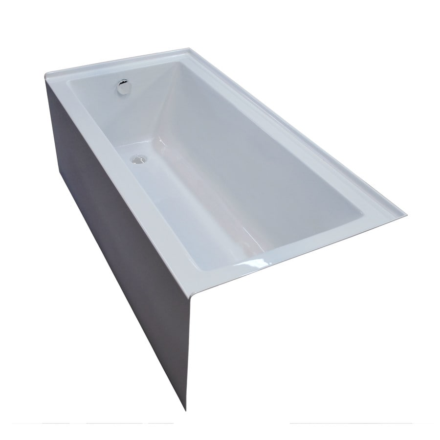 Endurance Ibis 60-in White Acrylic Alcove Bathtub with Left-Hand Drain