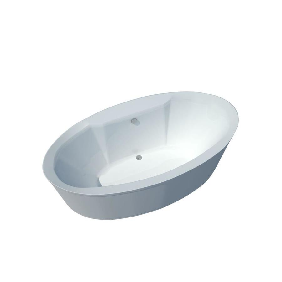 Endurance Endurance Freestanding Acrylic Oval Freestanding Bathtub with Center Drain (Common: 34-in x 70-in; Actual: 23-in x 34-in x 68-in)