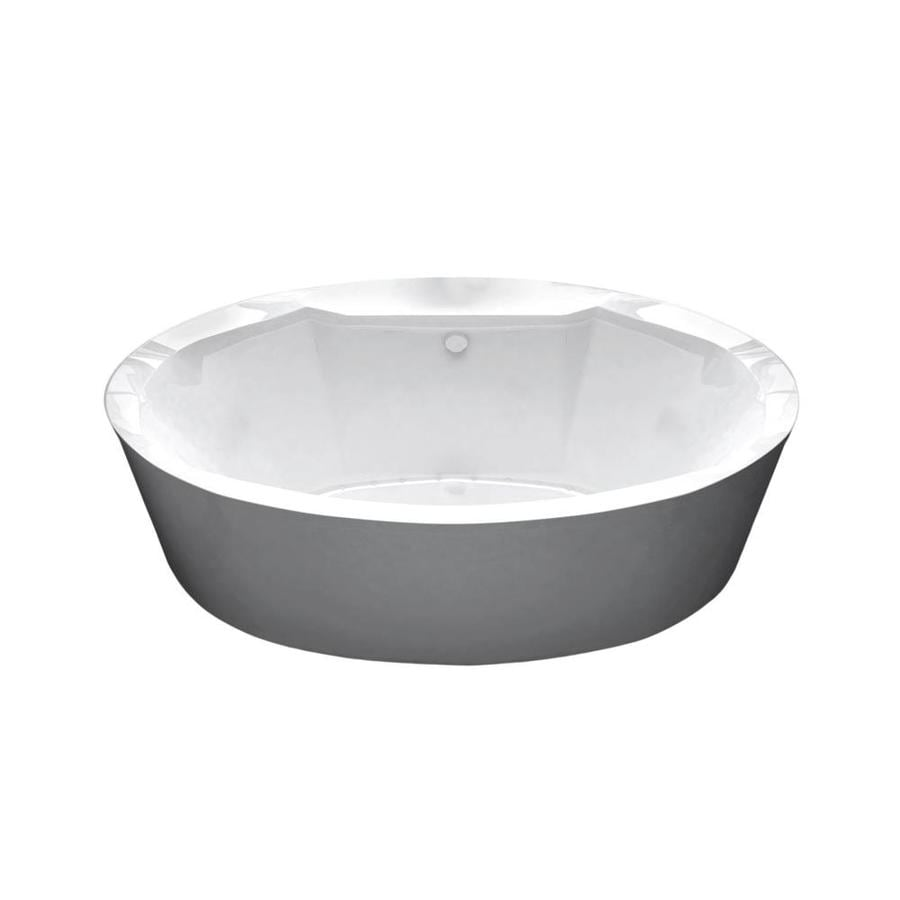 Endurance Endurance 67.3-in L x 33.8-in W x 24-in H White Acrylic Oval Freestanding Air Bath